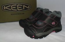 KEEN Kootenay Girls/Youth size 11/2/3/4 Low Top Winter Boots Black/Pink Snow