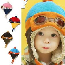 US Warm Hat Winter Hood Scarf Cute Baby Toddler Girls Boys Earflap Knitted Caps