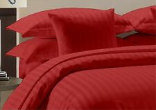 """1000TC Egyptian Cotton Bedding Items """"Queen,King,Cal-King,Twin,Full Red Stripe"""":"""