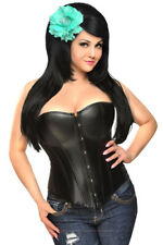 Daisy Corsets Faux Leather Strapless Corset Top - Daisy-198TSNT-P