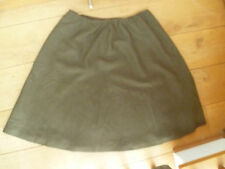 TOAST COCOA BROWN TEXTURED WOVEN WOOL BLEND SKIRT UK14 C3D8V A LINE LINED BNWT