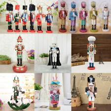 Classic Wooden Nutcracker Figures Handcraft Gift Home Christmas Decor Display