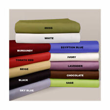 "100% Egyptian Cotton 15"" Deep Pocket 6pc Solid Sheet Set 1000TC All Size & Color"