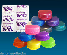 Retainer Brite Sample & Case ~ Glitter Colours Storage Box & 20 Cleaning Tablets