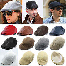 Men Duckbill Flat Ivy Cap Outdoors Golf Driving Newsboy Cabbie Womens Beret Hat
