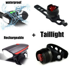 LED Bike Bicycle light Front Headlight Cycling Safety Warning Lamp+Taillight US