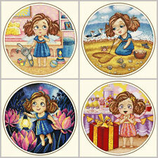 NEW UNOPENED Russian Counted Cross Stitch KIT Oven Little Fairy Alice Pixie