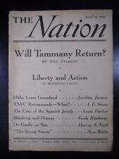 The Nation Magazine 1941 april 19 WILL TAMMANY RETURN? HITLER LOSES GREENLAND