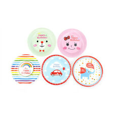 6pcs Cartoon Paper Plates Birthday Wedding Party Supplies Decoration Cake Dish
