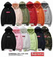 2017 Mens SUPREME Hip Hop Hoodie Embroidered Cotton Sweater Men's Hoodies