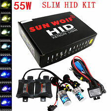 55W HID Xenon Lights Conversion KIT Ballasts H1 H4 H7 H11 H13 880 881 9006 9007