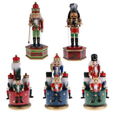 Vintage Handpainted Wooden Nutcracker Drummer Soldier Music Box Toy Home Display