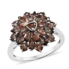 Jenipapo Andalusite Platinum Over Sterling Silver Ring  TGW 3.33 cts.