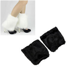 B3 Fluffies Fluffy Furry Leg Warmers Boots Covers Rave Furries White