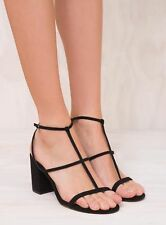 New Women's Therapy Black Suede Madera Heels