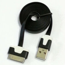 Flat Noodle USB Sync Charging Data Cable Cord for iPhone 4s 4 3Gs 3G iPod Touch