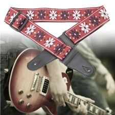 Adjustable Embroidery Design Guitar Strap For Electric Acoustic Guitar Bass