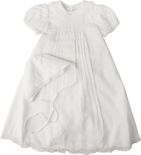 Feltman Brothers Girls Christening Gown White Batiste Lace NWT 9/12m