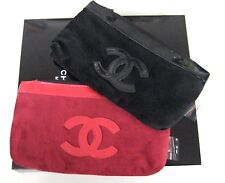 """CC.Chanel.cosmetic small Makeup velvet bag Case VIP gift purse 8.25"""" x 4.75"""""""