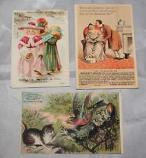 Lot of 3 Antique Vintage 1800's Victorian Trade Cards GREAT BACKS! Lewiston ME