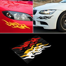 1Pair Car Vehicle Body Fire Flame Decal Window Bumper Hood Sticker Waterproof AA