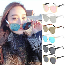 Retro Womens Cat Eye Sunglasses Vintage Shade Oversized Designer Glasses Eyewear