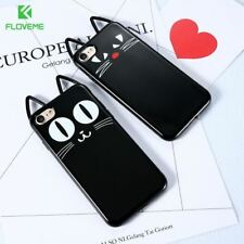 3D Cute Black Cat Ears Phone Case For Apple iPhone 7 7 Plus For iPhone 6 6S Plus