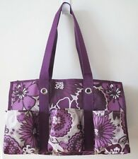 Thirty-one Organizing Utility Tote Bag in Plum Awesome Blossom
