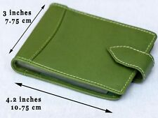 NEW Compact Credit Card Holder❂Snap button close❂Plastic insert❂Genuine Leather