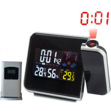 Digital Projection Alarm Clock Weather Station with Temperature Thermometer Humi
