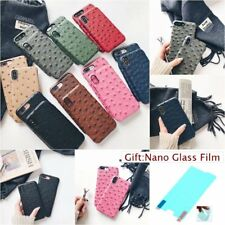 Film + OSTRICH PATTERN LEATHER FASHION Vogue Hard PC Back Case Cover For iPhone