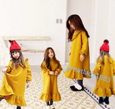 Toddler Baby Girls Dress Fall Thick Long Sleeve Casual  Dresses Kids Clothes New