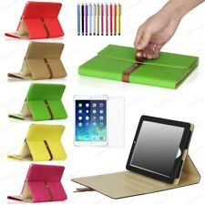 For Apple iPad 2 / 3 / 4 Buckle Belt Smart Leather Folio Case Cover With Stand