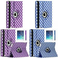 For Apple iPad 2 / 3 / 4 Rotating Smart Folio Leather Case Cover Stand Polka Dot