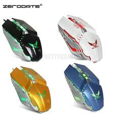 Adjustable DPI LED Mechanical Mouse Game Mouse Wired Optical Gaming Mouse Hot US