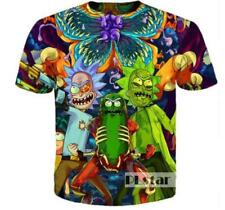 Womens/Mens Evil Rick and Morty Funny 3D Print Casual T-Shirt Short Sleeve Tee