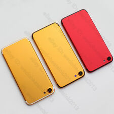 Red / Gold + Black edge Metal Back Rear Battery Door Housing Cover For iPhone 7