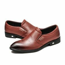 Men Formal Business Wedding Leather Shoes Work Office Casual Dress Oxford Brogue
