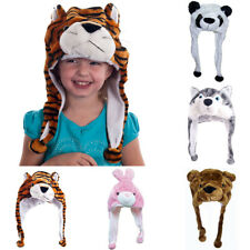 Unisex Kids Plush Fluffy Cute Animal Shape Outdoor Warm Hood Hat Cap Beanie Gift