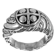 Bali Scroll 925 Sterling Silver Band Ring