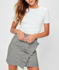 MISSGUIDED white lace up back crop top LADIES FASHION (M9/30)