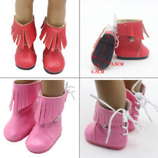 """New Doll Winter PU Leather Boots Shoes fit 18"""" American Girl dolls mini shoes"""