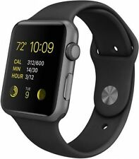 New Apple Watch Series 1 42mm Aluminum Case Black Sport Band - (MP032LL/A)
