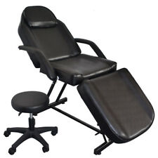 Beauty Massage Bed Facial Tattoo Chair Salon Equipment With Stool Barber Chair W