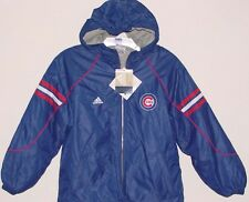 CHILD'S Vintage 90s Chicago CUBS ADIDAS Hooded Jacket NWT Youth Sz New Old Stock