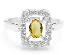 925 Sterling Silver Ring with Citrine Natural Gemstone Oval Cut Handmade eBay