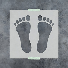 Footprint Stencil - Reusable Stencils of Baby Footprint in Multiple Sizes