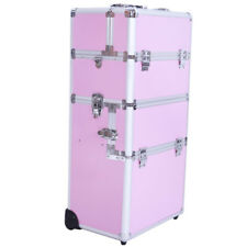 Pro 3-in-1 Cosmetic Aluminum Makeup Wheeled Box SM-7072 Train Case Rolling Z