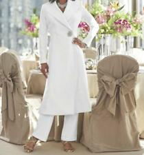Mother Of Bride Groom Wedding 3PC wardrober pant suit Jacket dress plus 2X 3X