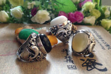 Valknut Viking ring Odin 's 100% 925 Sterling silver With colors Agate Rings